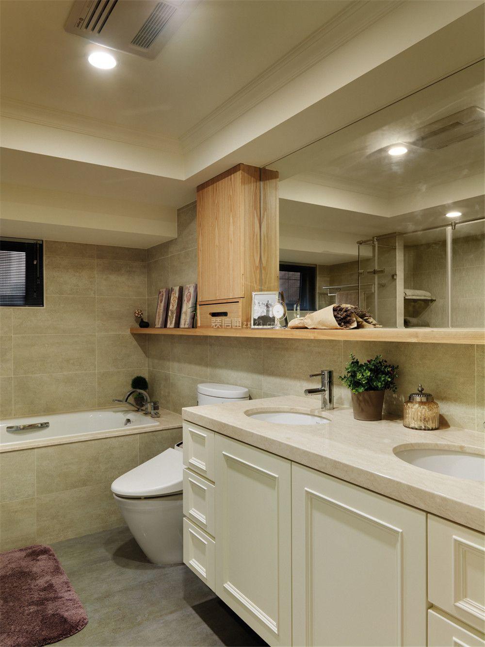 美式复古风格卫生间镜子装修效果图大全