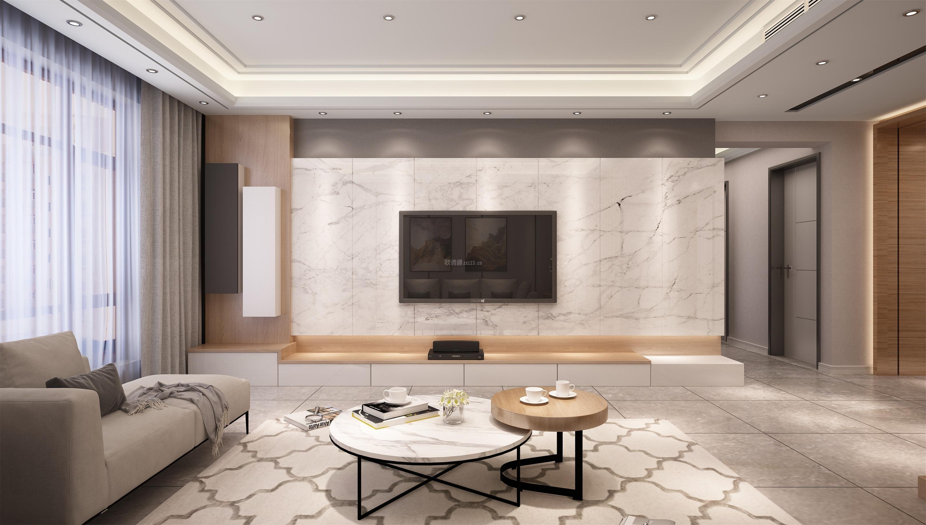 现代风格家庭创意电视墙装修效果图大全图片