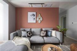 北歐風格新房客廳背景墻顏色搭配效果圖