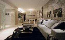 現代簡約復式客廳灰色布藝沙發裝修圖片
