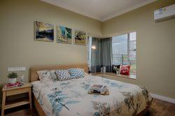 120平米簡約北歐風格三居室臥室墻面設計圖片