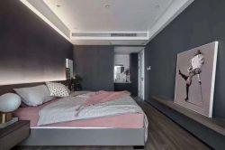 120平米現代簡約風格三居臥室背景墻設計效果圖片