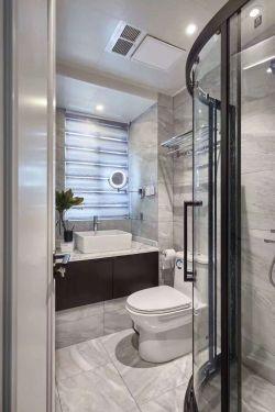 120平米現代簡約風格三居衛浴間設計效果圖片