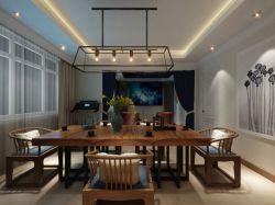 新中式風格300平米別墅茶室裝修效果圖