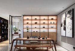 成都中式豪宅別墅茶室簡單設計裝潢圖片