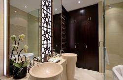 中式新房衛生間洗手臺創意裝修圖片
