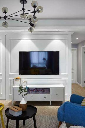 白色電視柜圖片 2018白色電視柜裝修效果圖