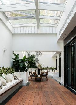 新房別墅陽光房實木地板裝修效果圖