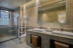 美式風格新房別墅衛生間洗面盆裝修效果圖片