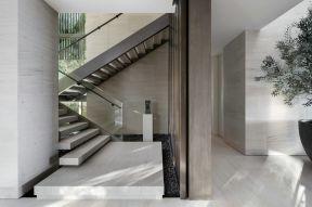 玻璃扶手設計效果圖 2018別墅樓梯玻璃護欄裝修效果圖