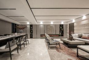 2018新中式風格客廳樣板間 別墅新中式風格