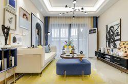 兩居樣板房客廳沙發背景墻照片墻裝修