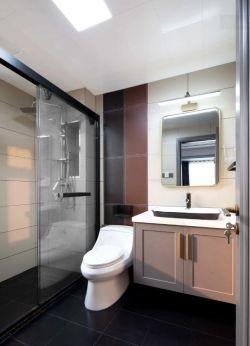 样板房两居卫生间干湿分区装修设计图
