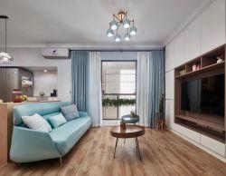 簡約北歐風格110平米三居客廳木地板設計圖