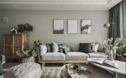 簡約北歐風格120平米三居婚房客廳設計圖片