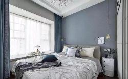 簡約北歐風格120平米三居婚房臥室設計圖片