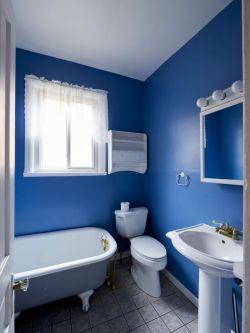2019家庭藍色衛生間整體搭配設計圖