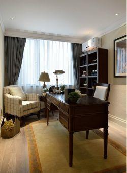 95平米三居室現代美式風格書房裝潢效果圖