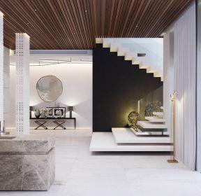 現代簡約風格141平米復式樓梯間設計圖片-每日推薦