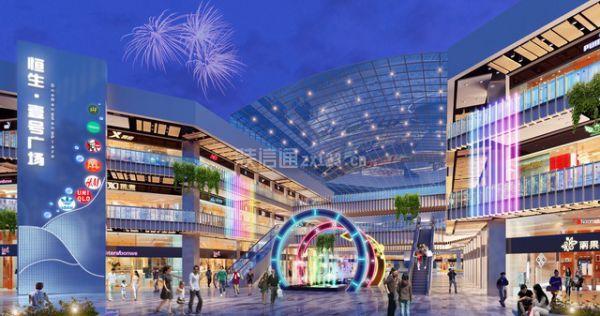 【天霸设计】时尚南宁步行街设计效果提高街区商业体验性图片