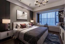 130平方新中式臥室飄窗裝修設計圖一覽