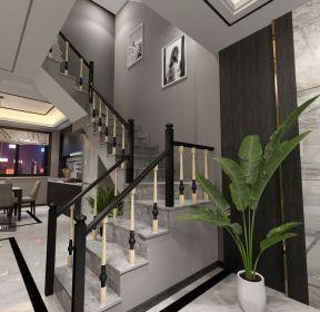 現代風格95平米小型別墅樓梯間裝修效果圖-每日推薦