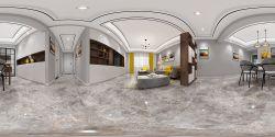 126平米現代風格三居室房屋客廳裝修效果圖