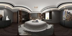126平米現代風格三居室房屋臥室裝修效果圖