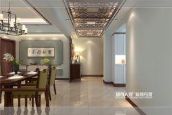 130平米新中式三居室新房走廊吊頂裝潢效果圖