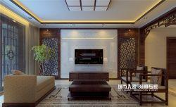 170平米新中式風格四居住宅客廳電視柜裝潢效果圖