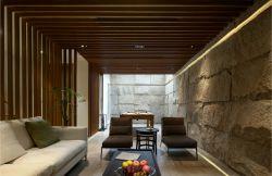 別墅新房休閑客廳背景墻磚裝修設計圖片