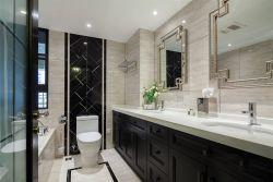 180平米現代美式新房衛生間洗手臺設計圖片