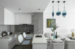 現代簡約風格三居室新房廚房吧臺設計圖