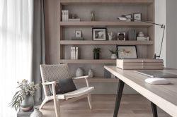 110平米簡約風格新房書房書桌設計圖片