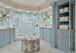 法式風格140平米三室兩廳衛浴間設計圖