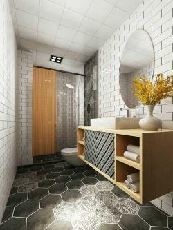 142平米北歐風格新房衛生間洗手臺裝修效果圖