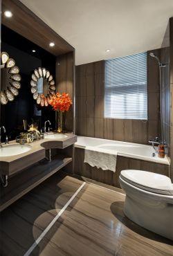 現代歐式風格120平米新房衛生間洗手臺設計圖片