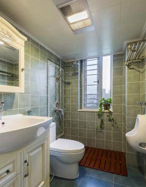 美式85平米卫生间淋浴房装修效果图大全