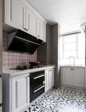 美式85平米新房厨房创意地板砖装修效果图