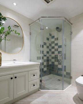 家庭卫生间隔断造型装修设计图赏析