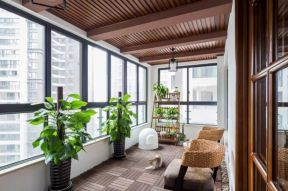 美式风格住宅室内封闭式阳台装修图片