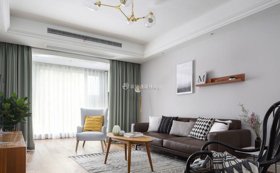 2019北欧简约客厅窗帘商用家装设计效果图免费风格英文常用v客厅字体下载图片