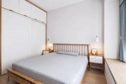北歐簡約家裝臥室白色衣柜設計圖片一覽