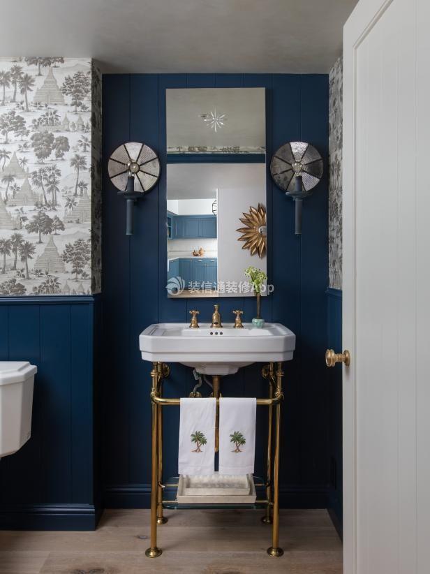 2019北欧风格家庭卫生间陶瓷洗脸盆设计图片