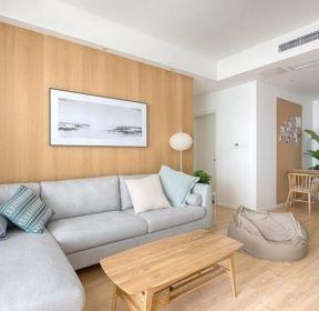 日式新房客厅木质茶几装修设计图片-每日推荐