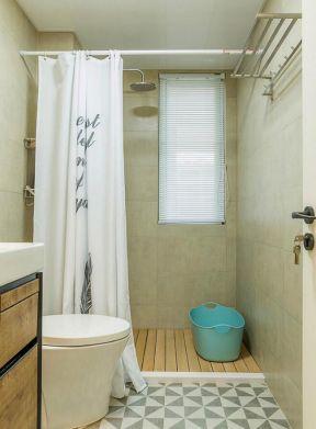2019浴室浴帘装修效果图 浴室浴帘隔断效果图