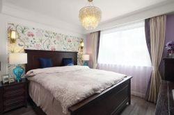 簡美風格160平四居室臥室壁紙設計圖片