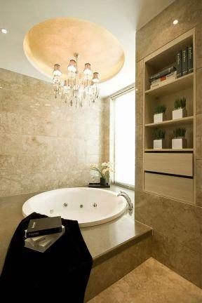 浴室浴缸图片设计 2019浴室浴缸设计图