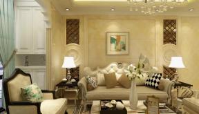 2019客厅沙发及餐桌背景墙图片