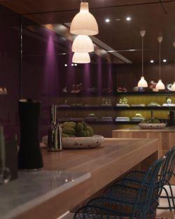 澳海瀾庭80平米兩居室混搭風格餐廳裝修效果圖